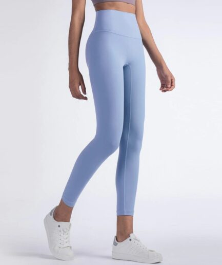 Two-sided High Waist Woman's Yoga Leggings For Workout-in blue color