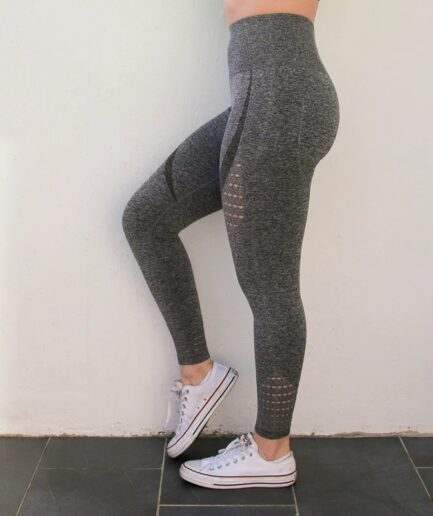 Super Stretchy Yoga Leggings special for Tummy Control-in gray color